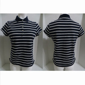 Merona top Small polo striped nautical preppy